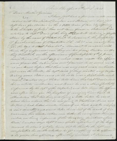 John Bailey - [Letter to] Dear Brother Garrison [manuscript]